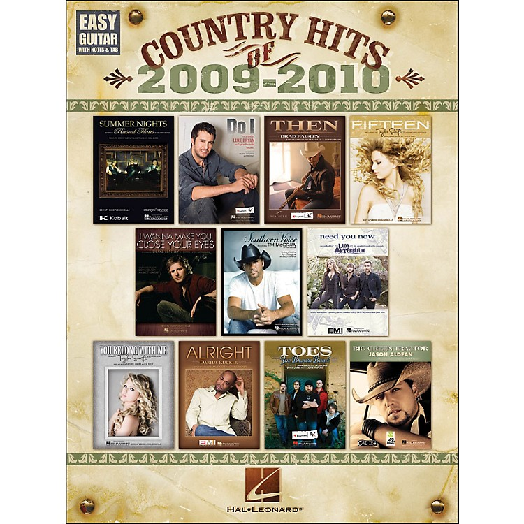 Hal LeonardCountry Hits Of 2009 - 2010 Easy Guitar with Tab