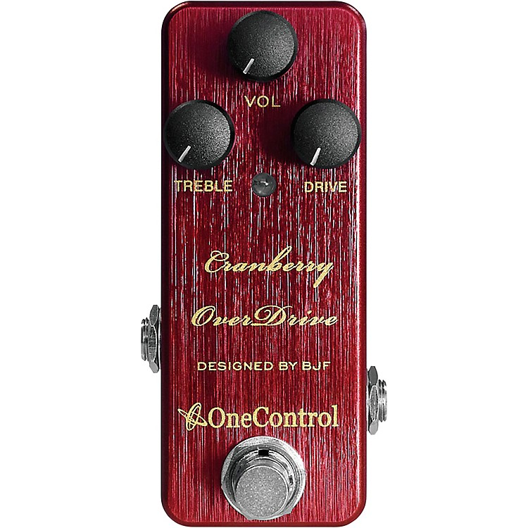 One ControlCranberry Overdrive Effects Pedal