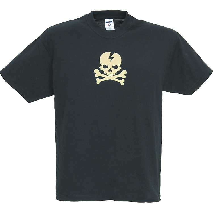 Gear One Cream Skull 'n' Bones T-Shirt Black Medium
