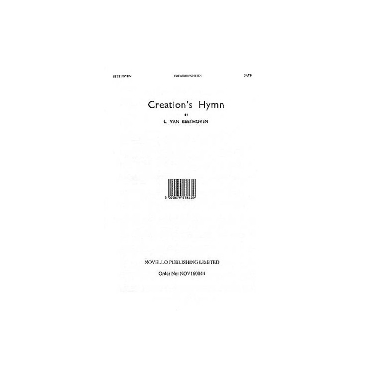 Music SalesCreation's Hymn SATB a cappella Composed by Ludwig van Beethoven