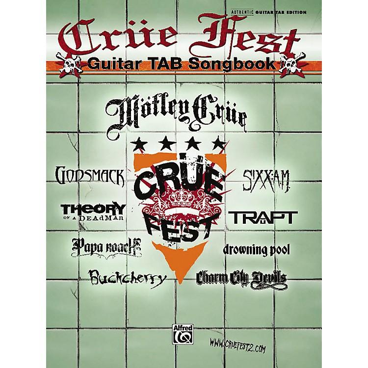 AlfredCrue Fest: The Official Tour - Guitar Tab Book