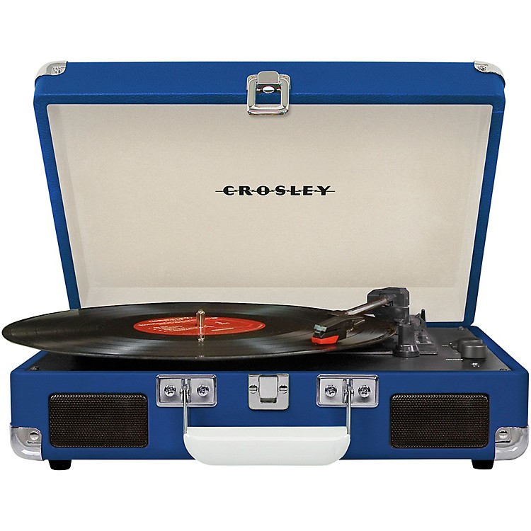 CrosleyCruiser Deluxe Portable Turntable Vinyl Record Player with Built-in SpeakerBlue