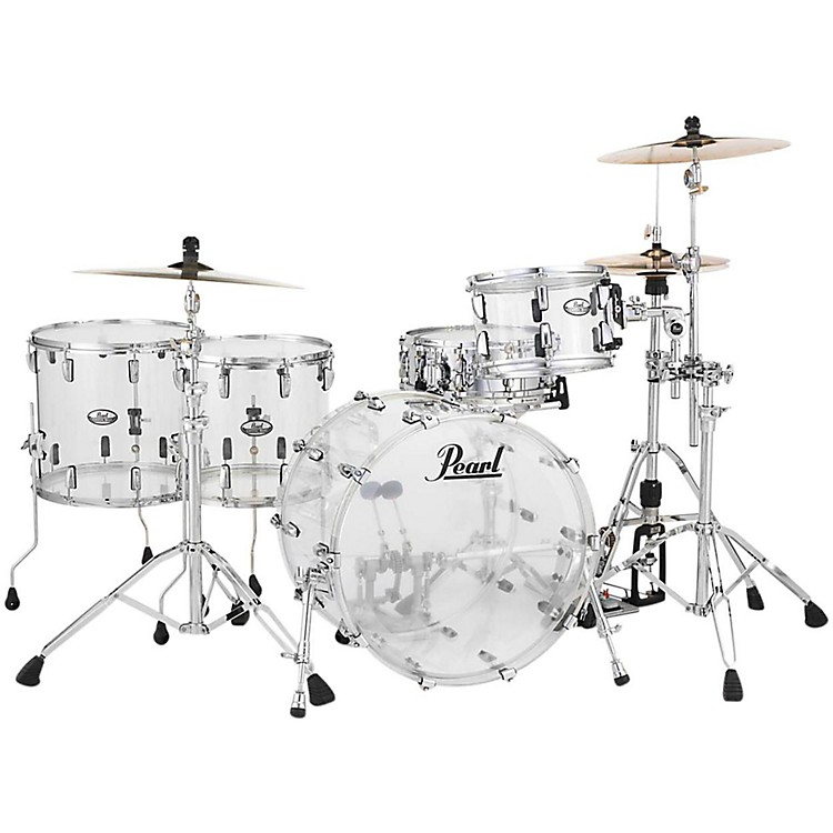 Pearl Crystal Beat 4-Piece Rock Shell Pack Ultra Clear