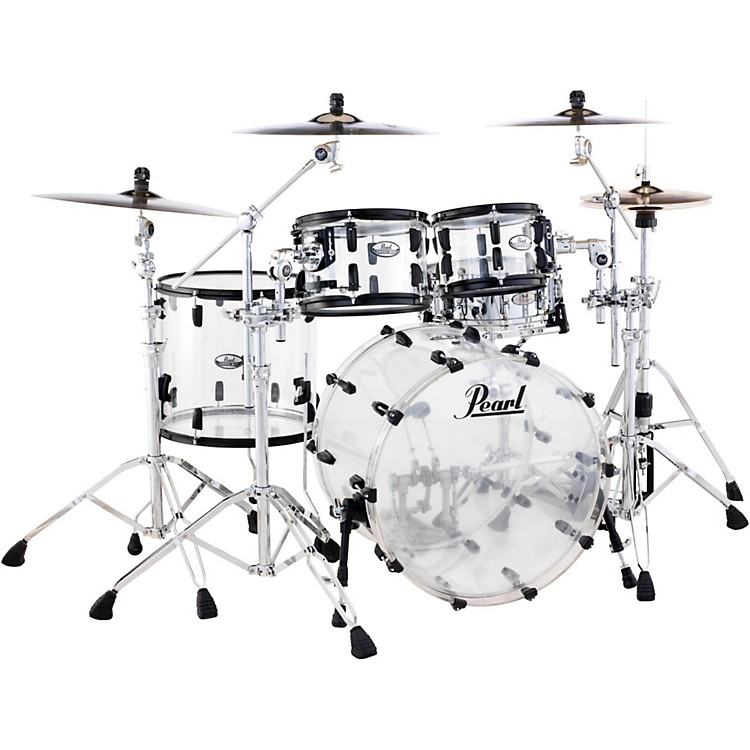 Pearl Crystal Beat 4-Piece Shell Pack Ultra Clear Black Hardware