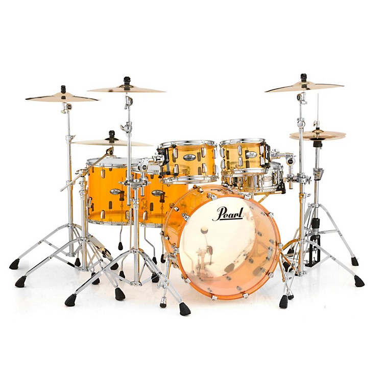 Pearl Crystal Beat 5-Piece Shell Pack Tangerine Glass