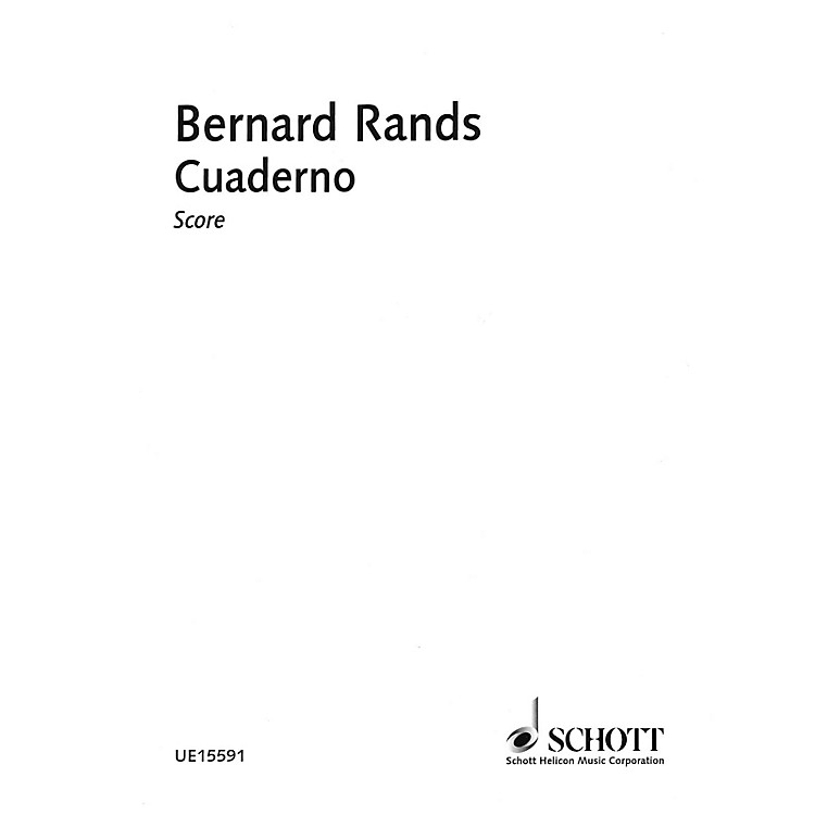 Schott Cuaderno Schott Series Softcover Composed by Bernard Rands