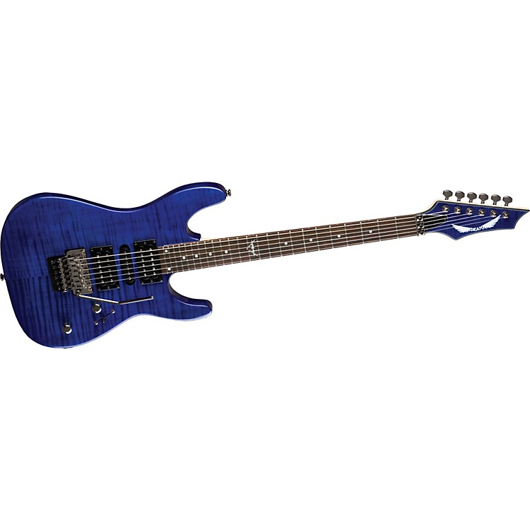 Dean Custom 380 Electric Guitar Transparent Blue