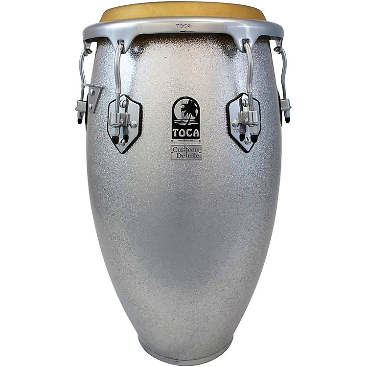 TocaCustom Deluxe Solid Fiberglass Congas12.50 in., Silver Sparkle190839856470