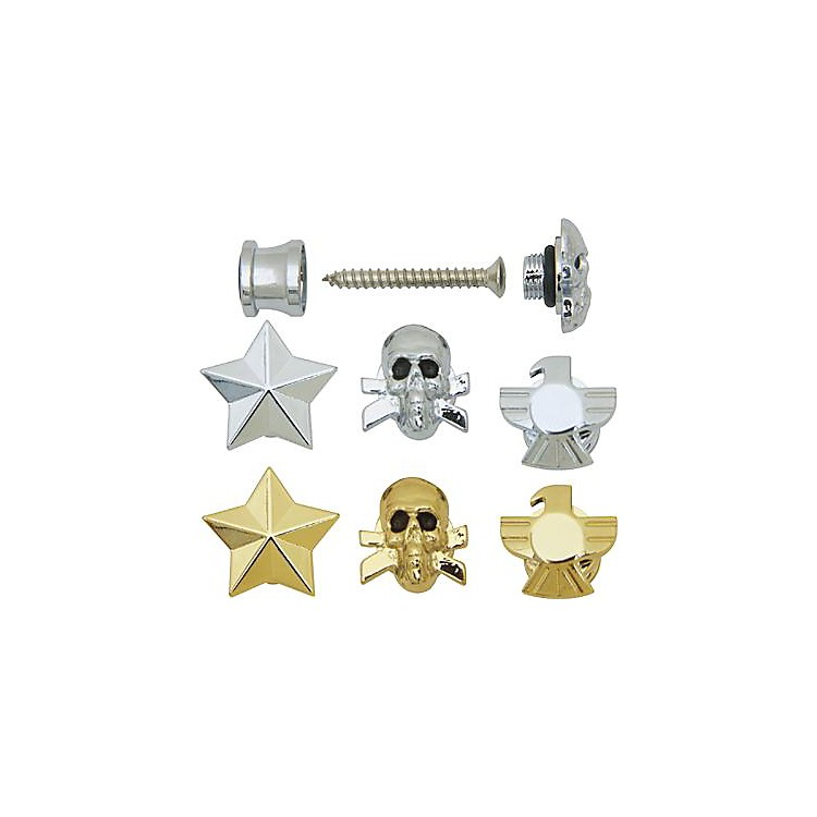 Grover-Trophy Custom Designed Strap Buttons Chrome Skull