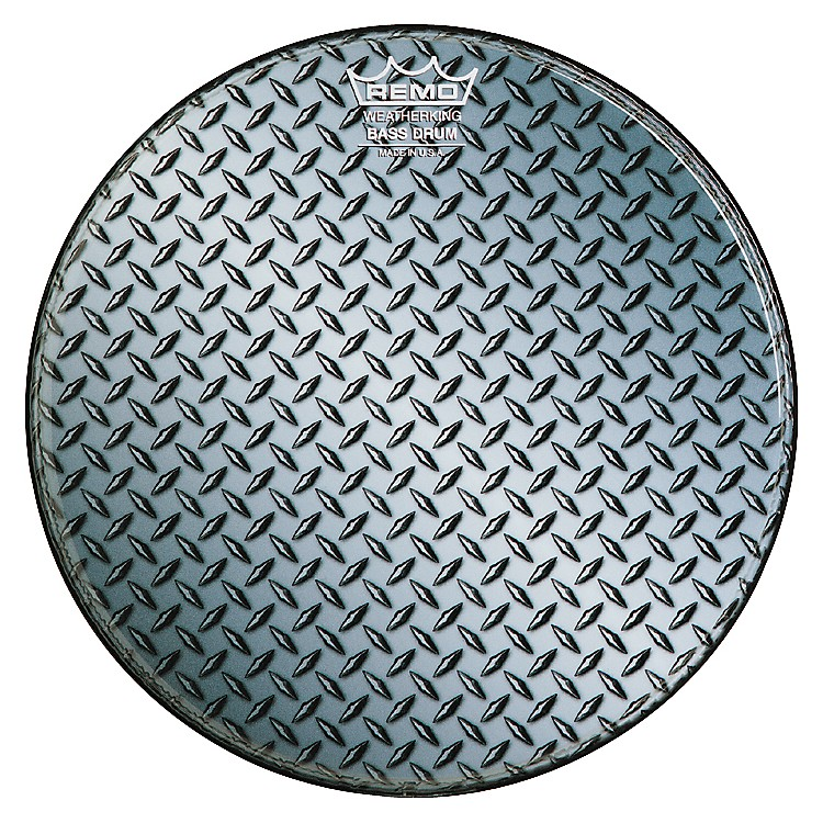 Remo Custom Diamond Plate Graphic Bass Drum Head  20 in.