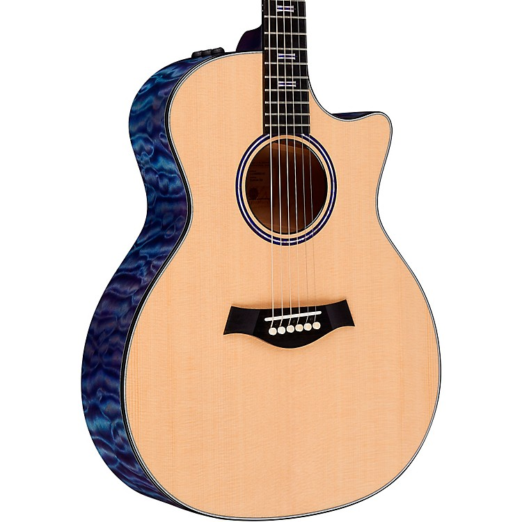 TaylorCustom Grand Auditorium #11152 Sitka Spruce and AA-Quilted Maple Acoustic-Electric GuitarTransparent Purple