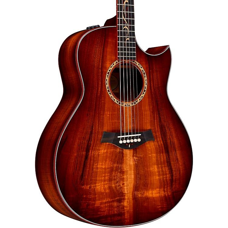 TaylorCustom Grand Orchestra #11093 A-Grade Koa Acoustic-Electric GuitarShaded Edge Burst
