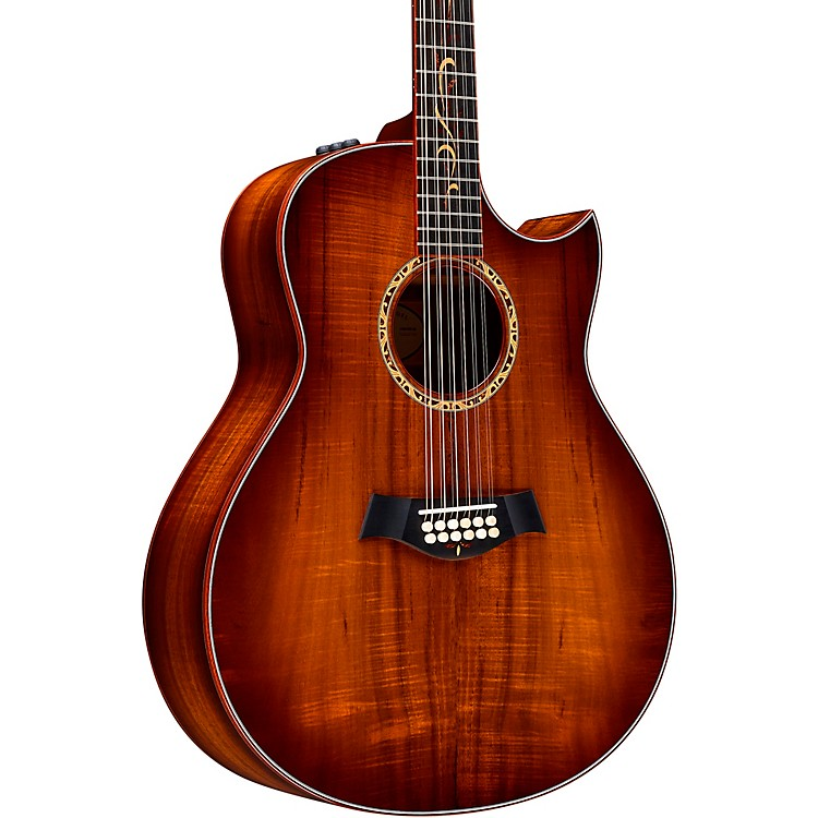 Taylor Custom Grand Orchestra 12-String #11094 A-Grade Koa Acoustic-Electric Guitar Shaded Edge Burst