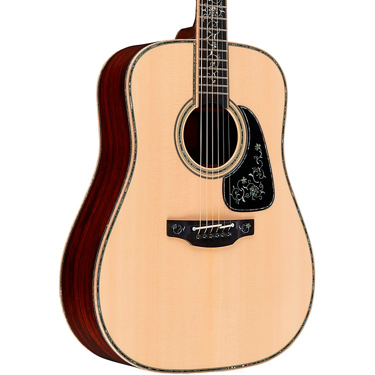 TakamineCustom Shop PXD3 Dreadnought Acoustic-Electric GuitarGloss Natural