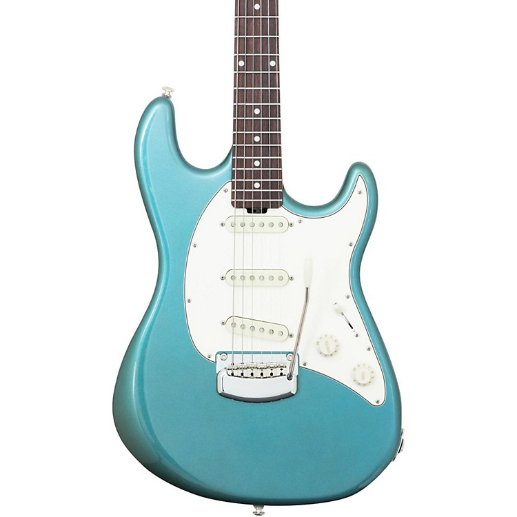 Ernie Ball Music ManCutlass Trem Rosewood Fingerboard Electric GuitarVintage Turquoise