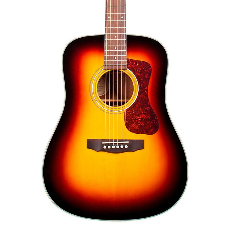 Guild D-140E Acoustic Guitar Sunburst 190839267375