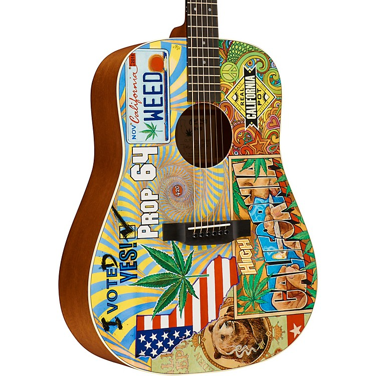 MartinD-420 Acoustic GuitarCustom Graphic