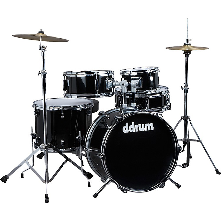 Ddrum D1 5-Piece Junior Drum Set with Cymbals Midnight Black