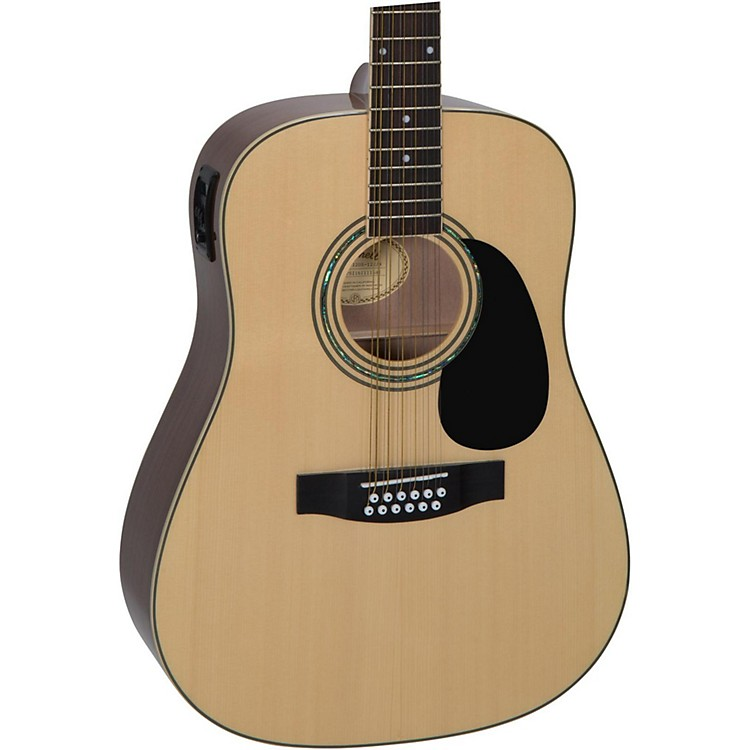 Mitchell D120S12E 12-String Dreadnought Acoustic-Electric Guitar Natural