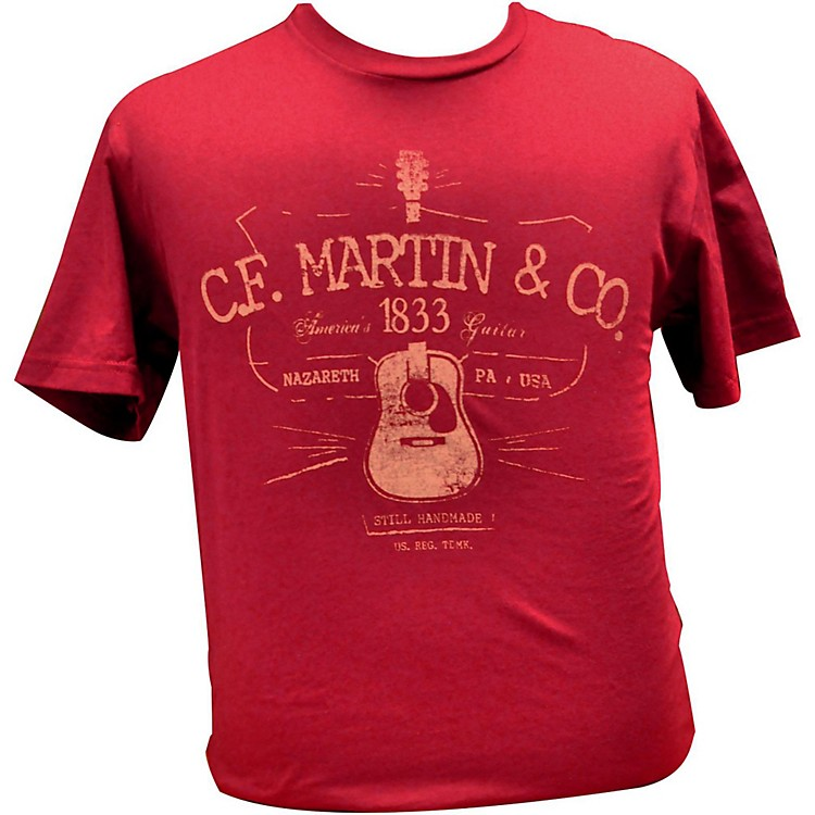 Martin D28 Logo T-Shirt Cardinal Medium