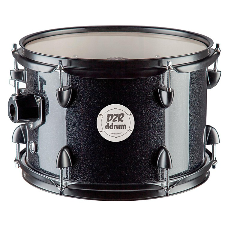 Ddrum D2R Series Tom 10 x 7 in. Black Sparkle