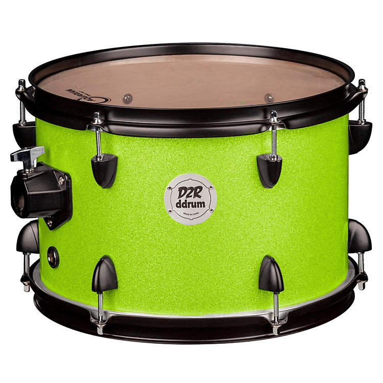 DdrumD2R Series Tom10 x 7 in.Lime Sparkle