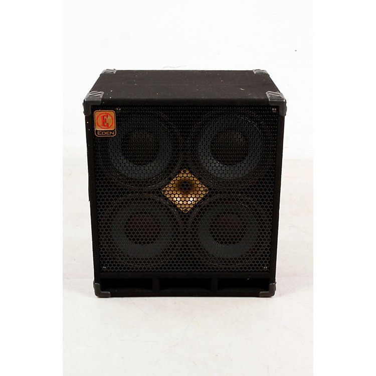 Eden D410XST 1000W 4x10 Bass Speaker Cabinet with Horn Black, 8 Ohm 888365777658