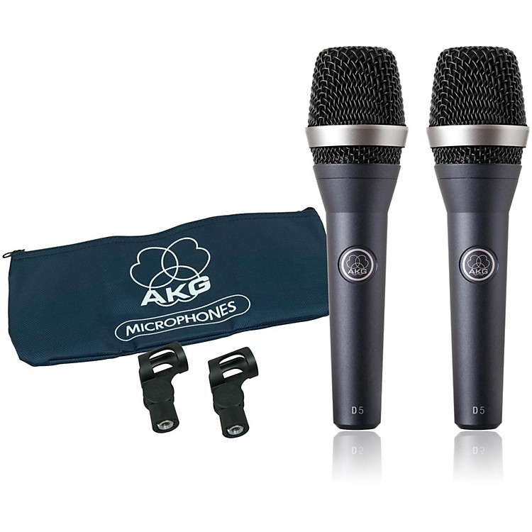 AKG D5 Supercardioid Handheld Dynamic Microphone (2-Pack)
