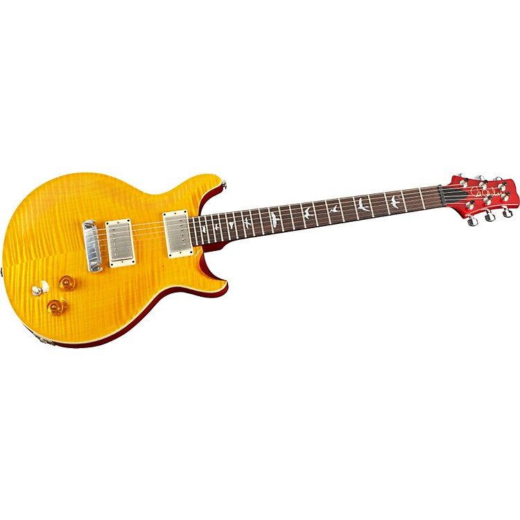 PRSDC 22 10-Top with Bird Inlays Electric GuitarVintage Yellow