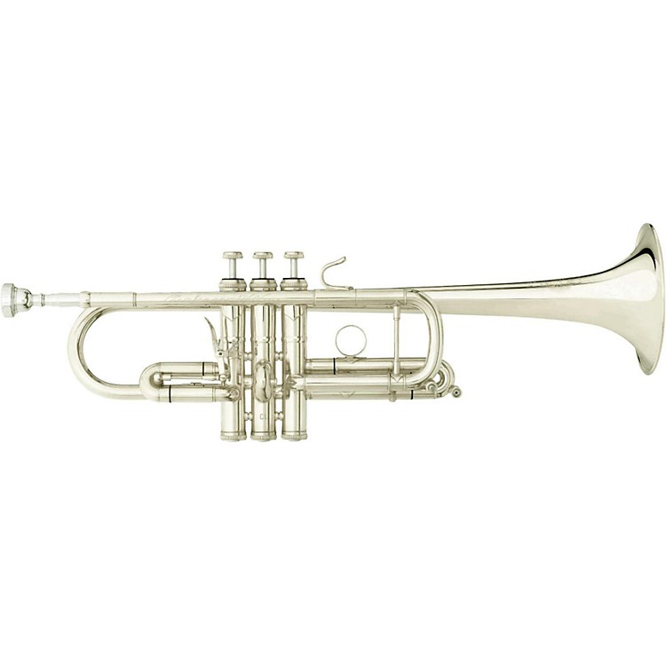 B&S DCX Large Bore X-Series C Trumpet with Fixed Bell Silver