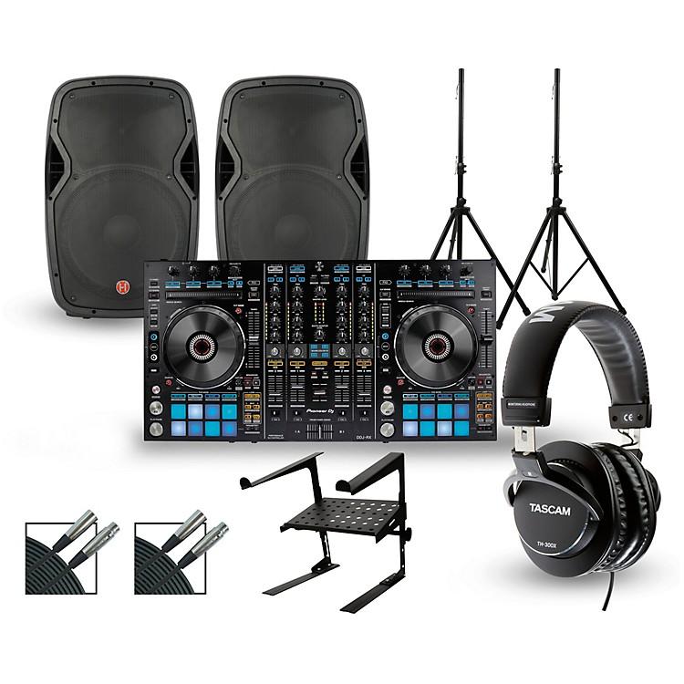 PioneerDDJ-RX with Harbinger V1015 DJ Package