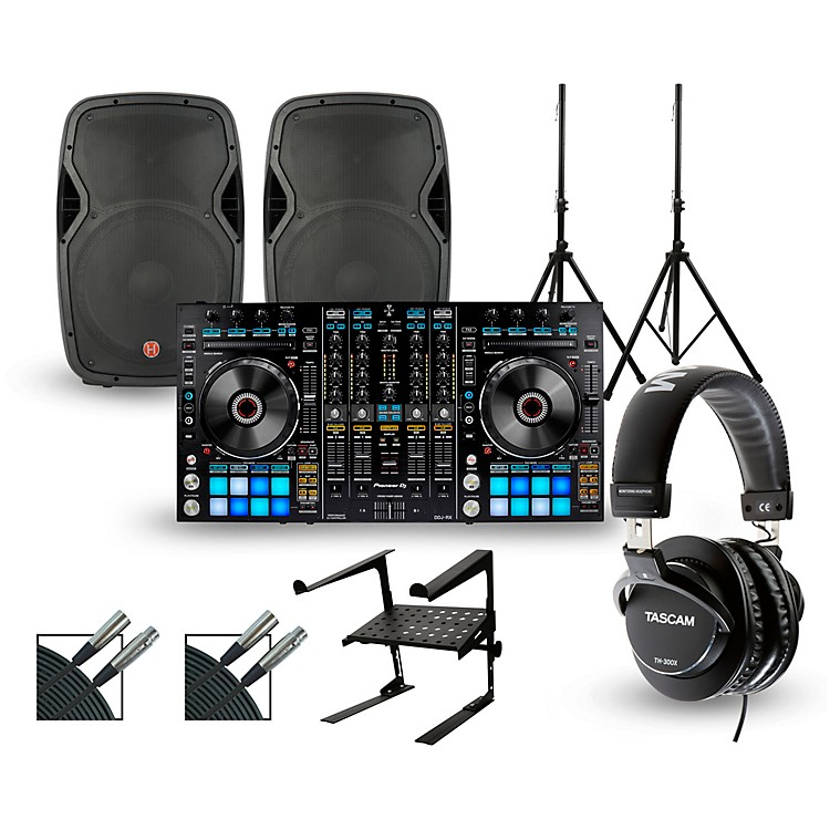 PioneerDDJ-RZ with Harbinger V1015 DJ Package