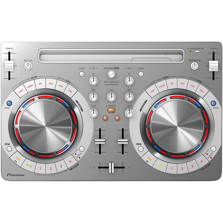 PioneerDDJ-WEGO3 Compact DJ Controller with iOS CompatibilityWhite