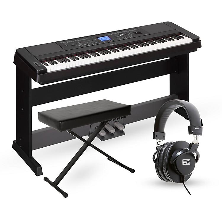 YamahaDGX-660 88-Key Portable Grand Piano PackageBlackAdvanced Home Package