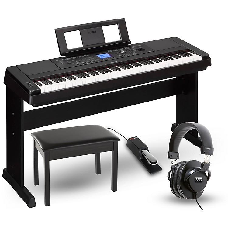 YamahaDGX-660 88-Key Portable Grand Piano PackageBlackHome Package