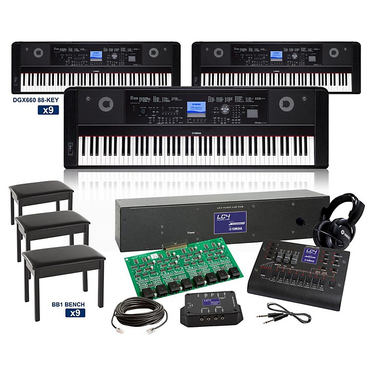 yamaha dgx660 88 key grand lc4 keyboard lab music123. Black Bedroom Furniture Sets. Home Design Ideas