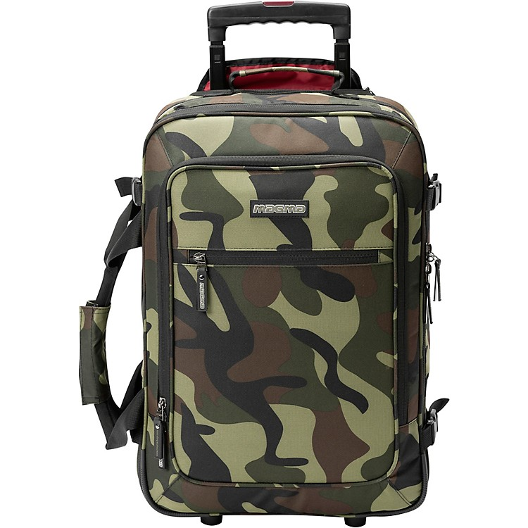 Magma Cases DIGI Carry-On Trolley Rolling DJ Case Camouflage