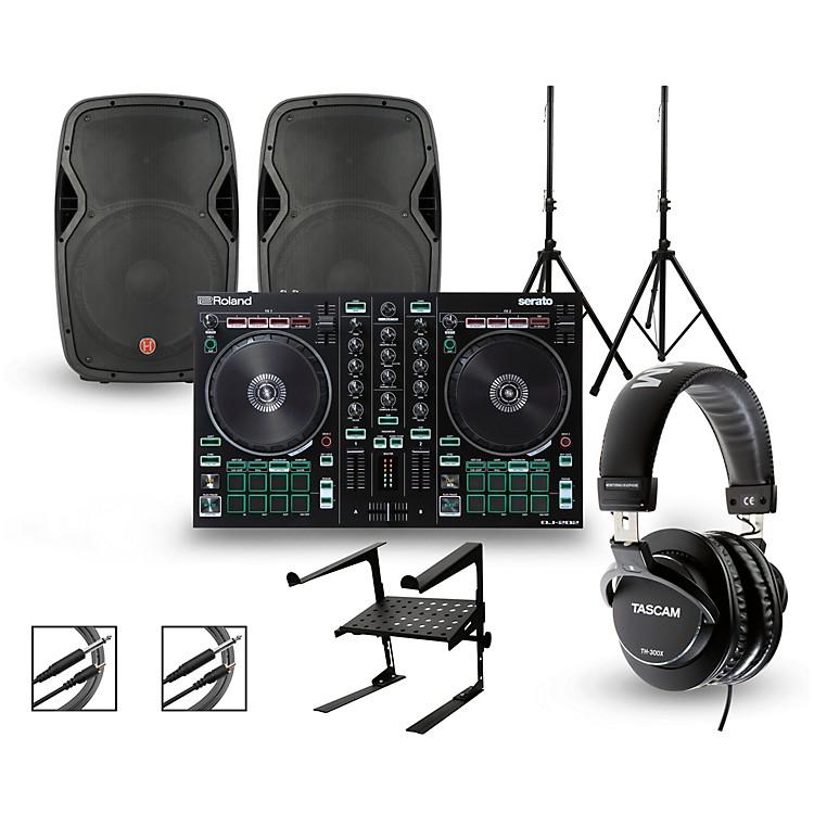 RolandDJ-202 with Harbinger V1015 DJ Package