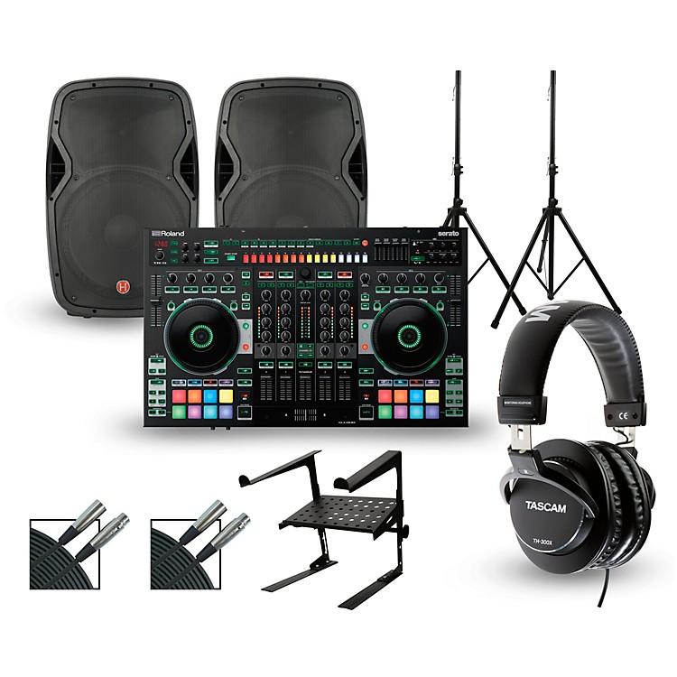 RolandDJ-808 with Harbinger V1015 DJ Package