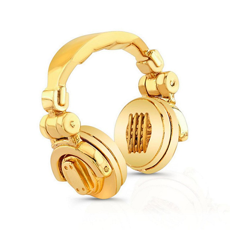 SOUND HEADZ DJ Headphone Pendant 14KT White Gold Plated