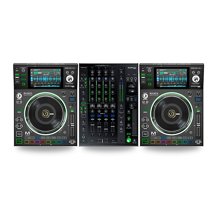 Denon DJ Package With Two SC5000M Prime Media Players and X1800 Prime Mixer