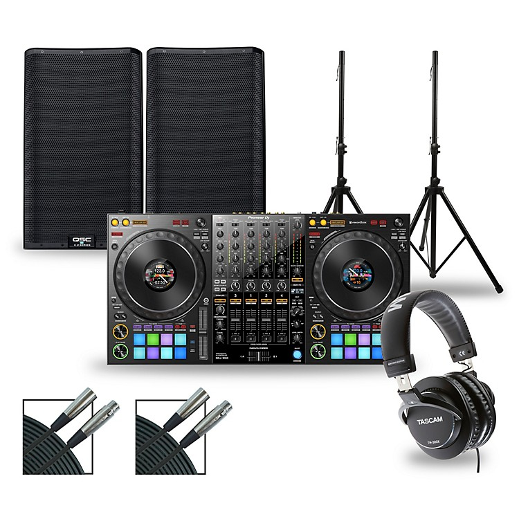 PioneerDJ Package with DDJ-1000 Controller and QSC K.2 Series Speakers12