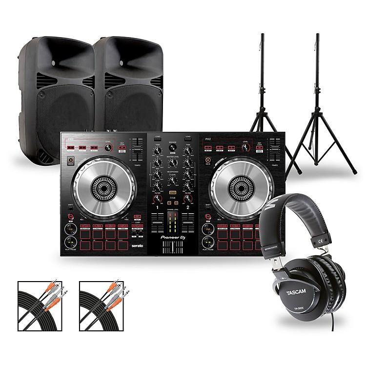 PioneerDJ Package with DDJ-SB3 Controller and Gemini HPS BLU Series Speakers12