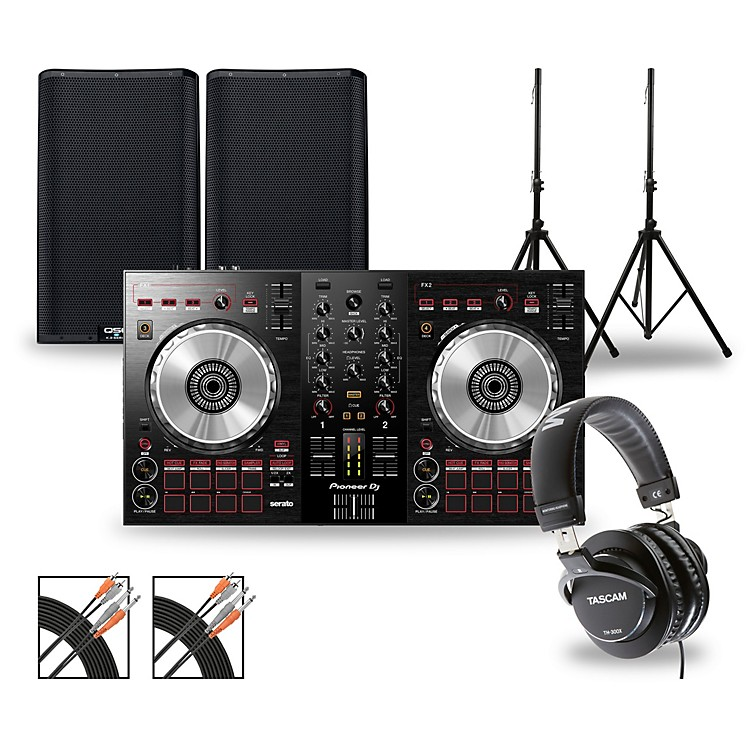 Pioneer DJ Package with DDJ-SB3 Controller and QSC K.2 Series Speakers 12