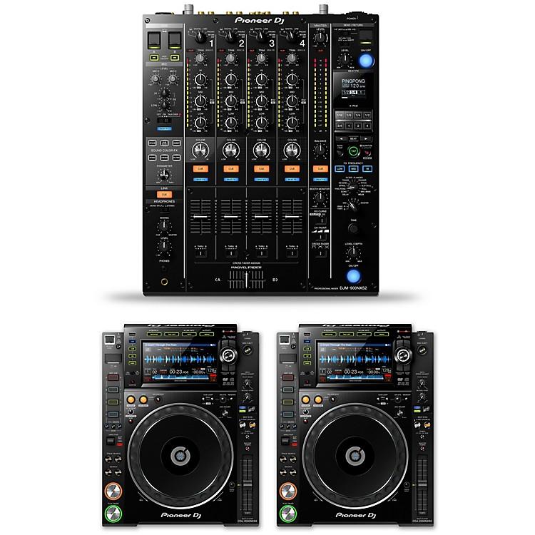PioneerDJ Package with DJM-900NXS2 Mixer and CDJ-2000NXS2 Media Players