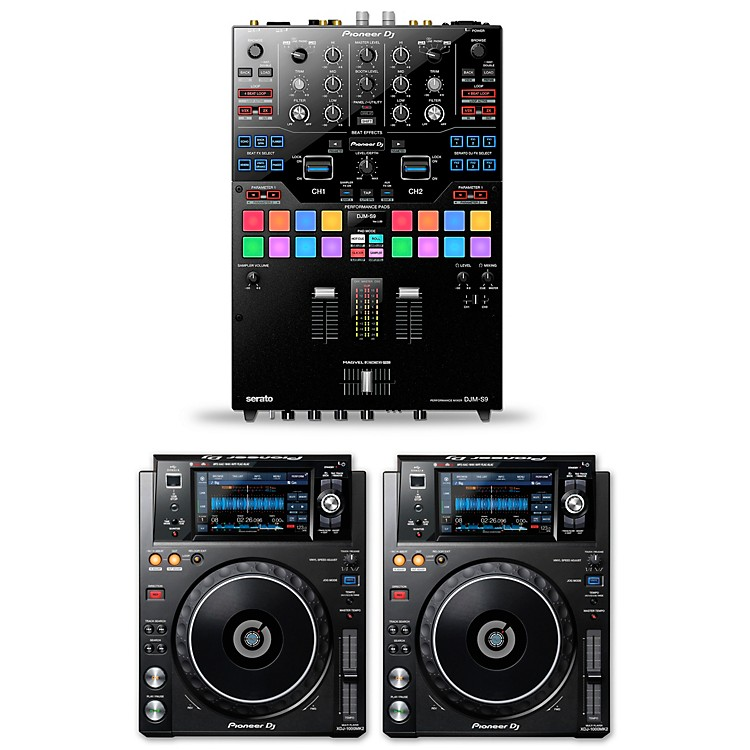 Pioneer DJ Package with DJM-S9 and XDJ-1000MKII Media Players
