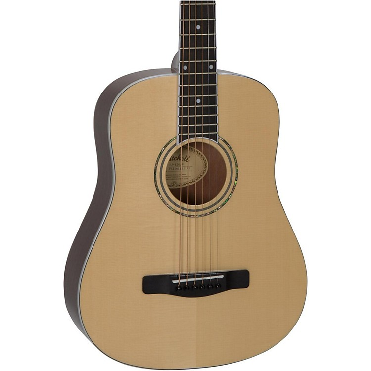 Mitchell DJ120 Travel Size Dreadnought Acoustic Guitar Natural