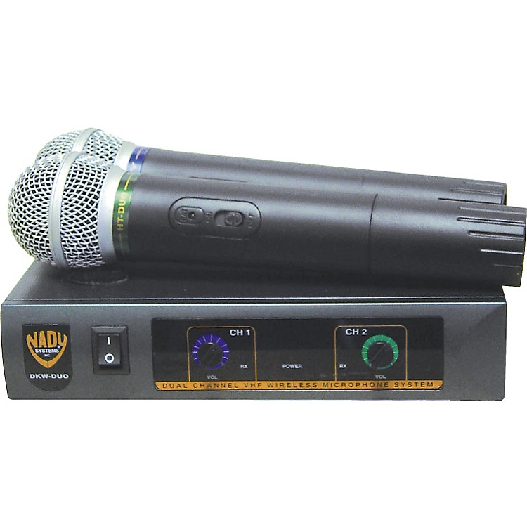 Nady DKW-Duo Dual Channel VHF Handheld Microphone System Band P and R