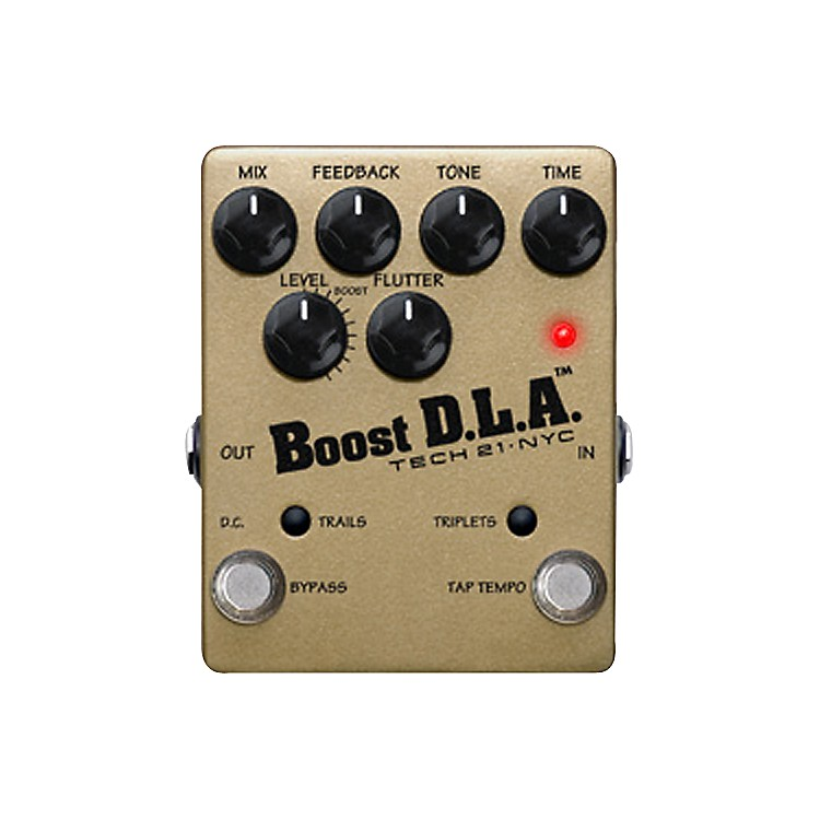 Tech 21DLA-TT Boost D.L.A. Tap Tempo Guitar Effects Pedal