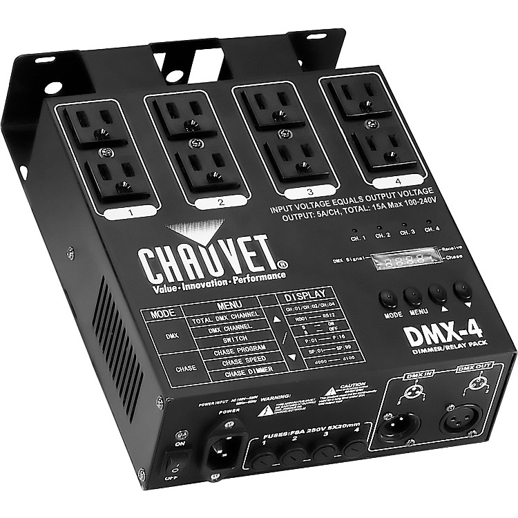CHAUVET DJ DMX-4 Dimmer/Relay Pack